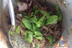 Larb Pork, Kanchanaburi Thailand
