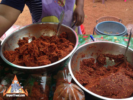 red curry paste made in Thailand