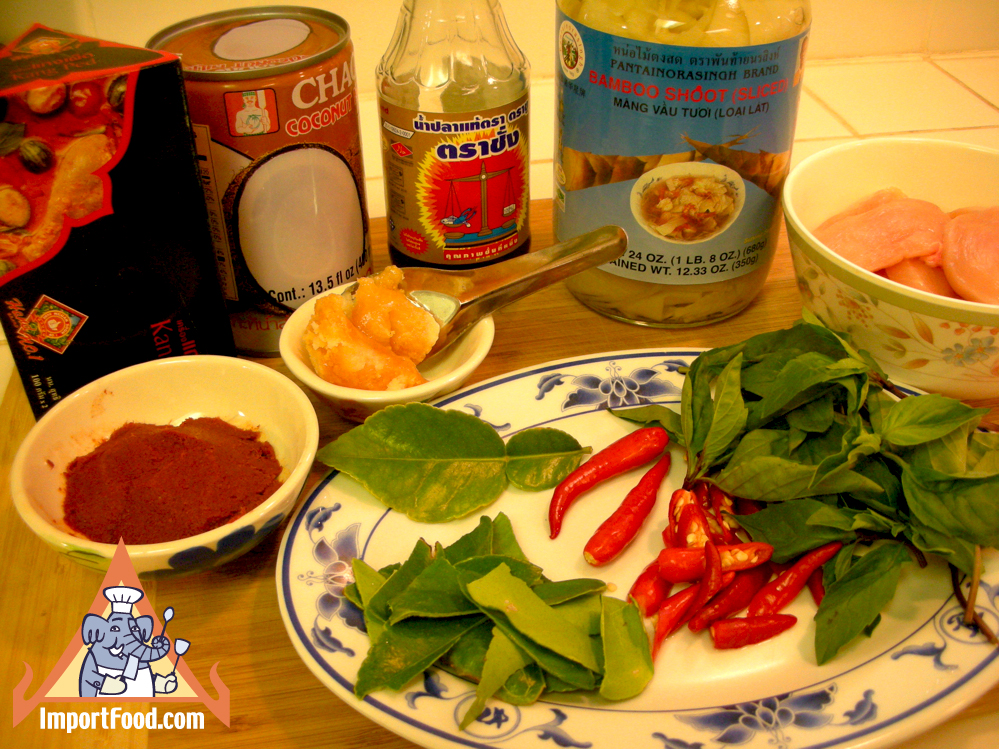 Red Curry Chicken with Bamboo ShootImportFood.com
