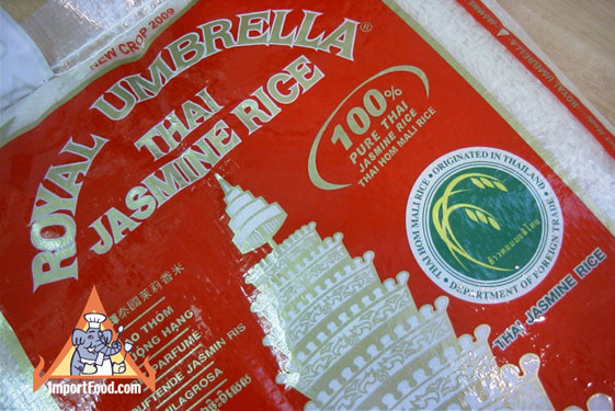 thai jasmine rice, royal umbrella brand