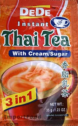 thai tea, instant, dede