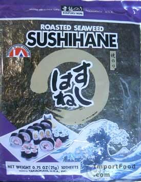 nori, sushihane, roasted seaweed