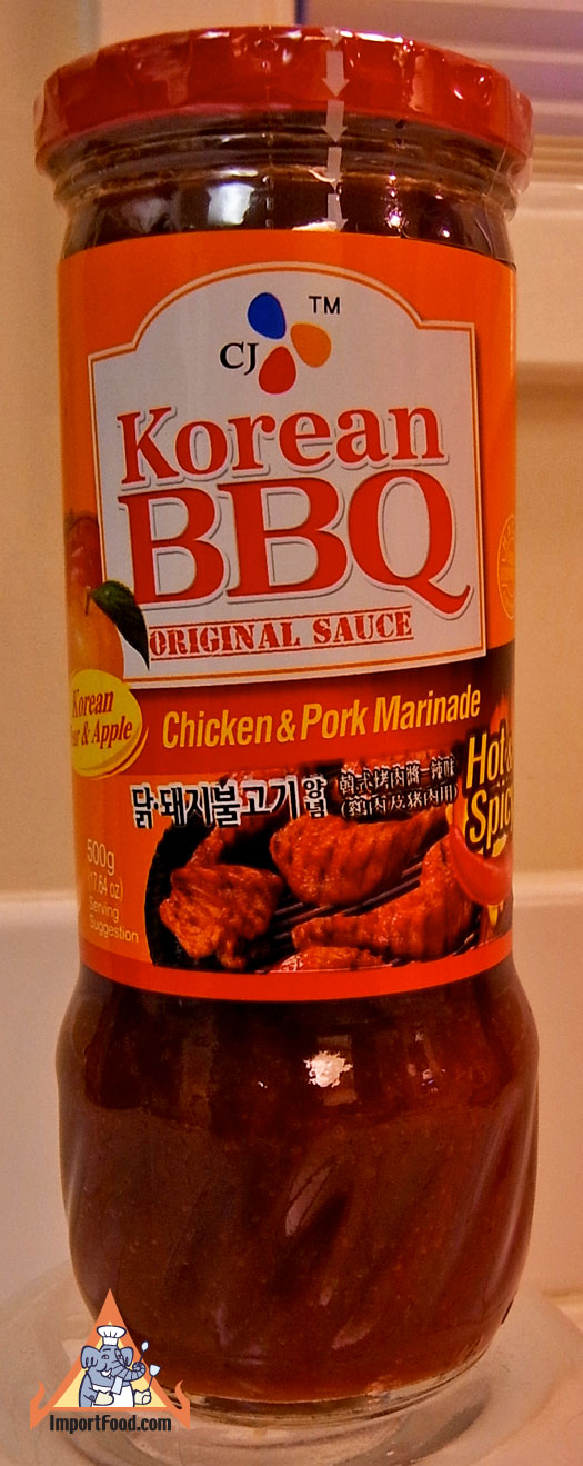 Korean BBQ Marinade, CJ Brand, 17 oz bottle, available ...