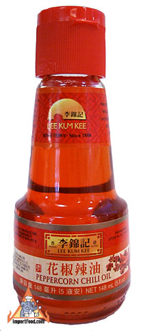 Peppercorn chili oil, 5 oz bottle, available online from ImportFood ...