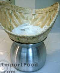 sticky rice cheesecloth