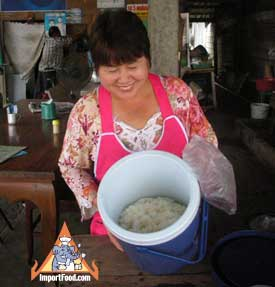 sticky rice street vendor