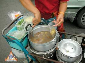 Thai Street Vendor Prepares Chinese-Style Soup