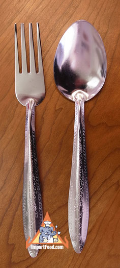 Thai spoon and fork