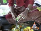 Thai Vegetable Carving: Cucumber Petal