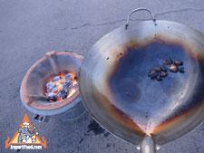seasoning a wok