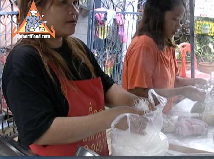 Bangkok Street Vendor Noodle Soup - Ba Mee Nam