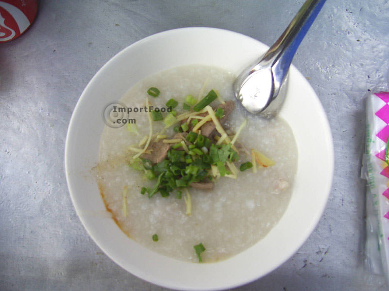 Thai Congee, Rice Porridge, Pork