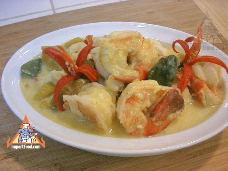 Pumpkin in Coconut Soup with Shrimp, 'Phaktong Tom Kati'