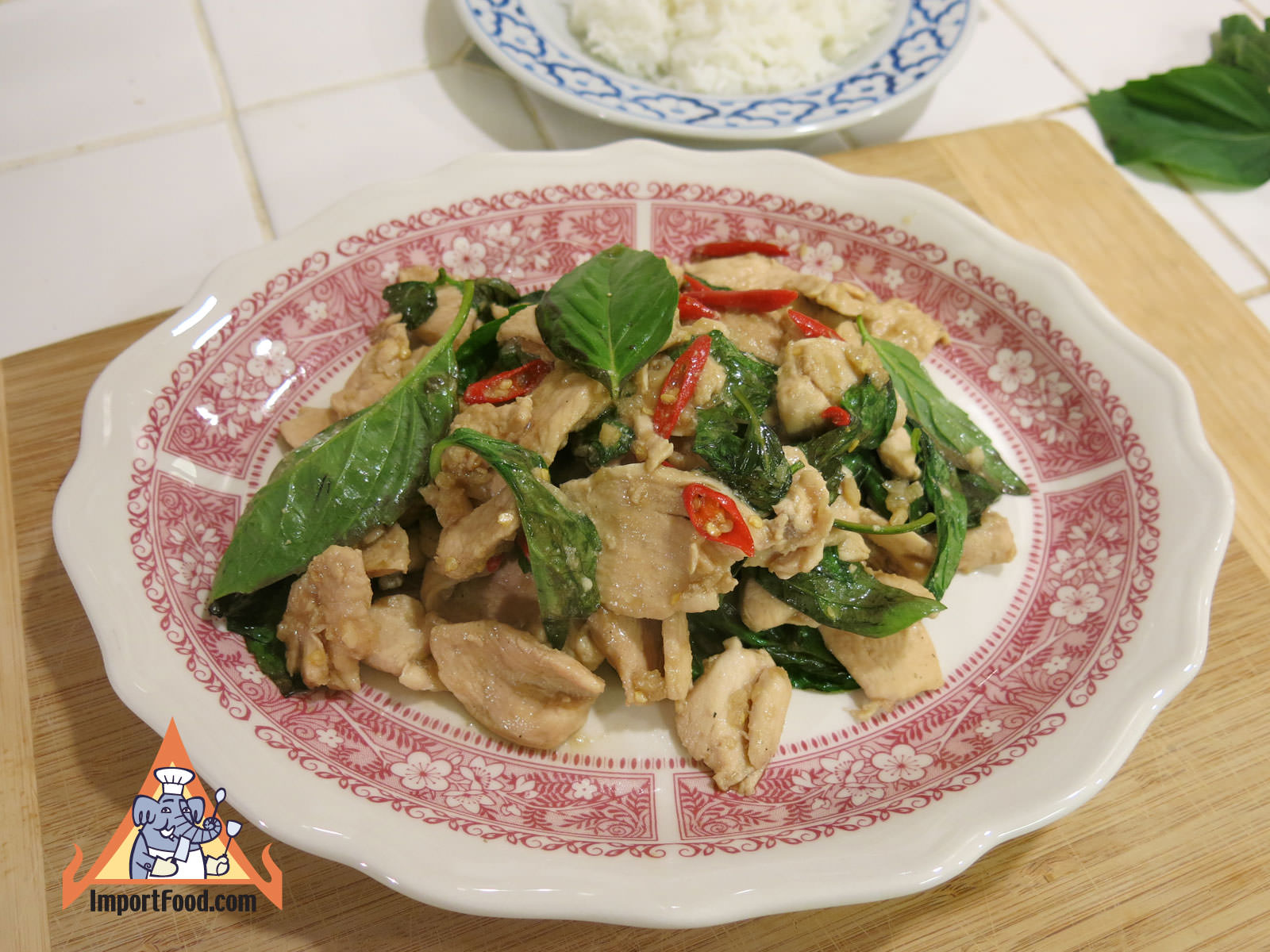 Spicy Chicken with Fresh Thai Basil, 'Gai Pad Horapa'