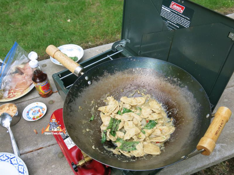 Chicken Stir-Fried with Green Curry, 'Gai Pad Khiaowan'