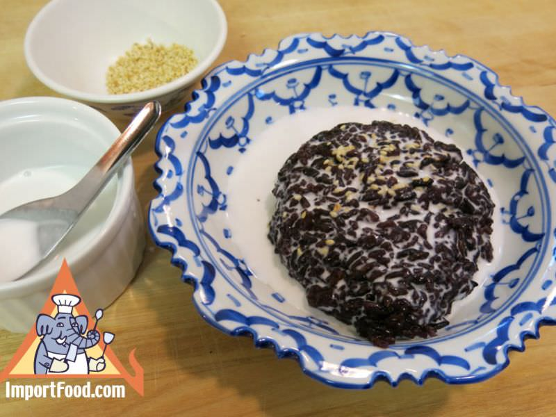 Thai Black Sticky Rice & Sweet Coconut Milk,