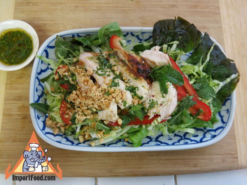 Barbecue Chicken Salad, Thai-American Style