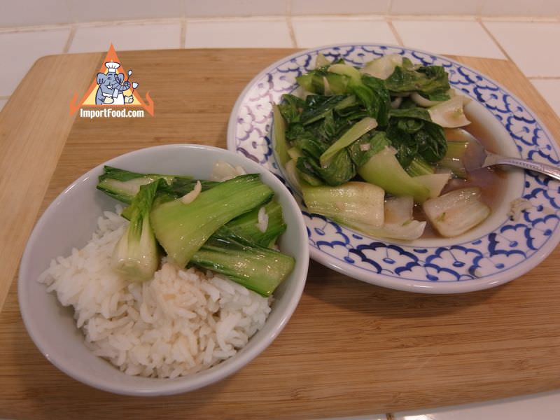 Simple Stir-Fried Bok Choy with Oyster Sauce