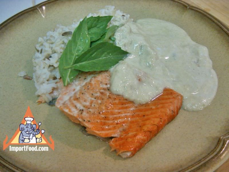 Thai Green Curry Salmon and Wild Rice