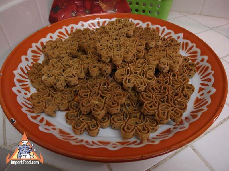 Recipe Kanom Dok Jok Thai Flower Cookie Importfood