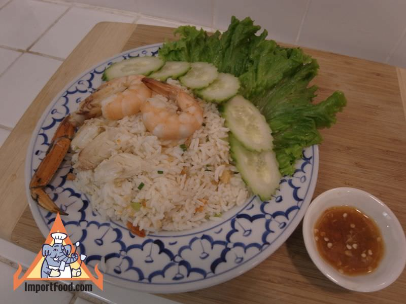 Rice with Salty Chili Sauce & Seafood, 'Khao Kruk Prik Klua'