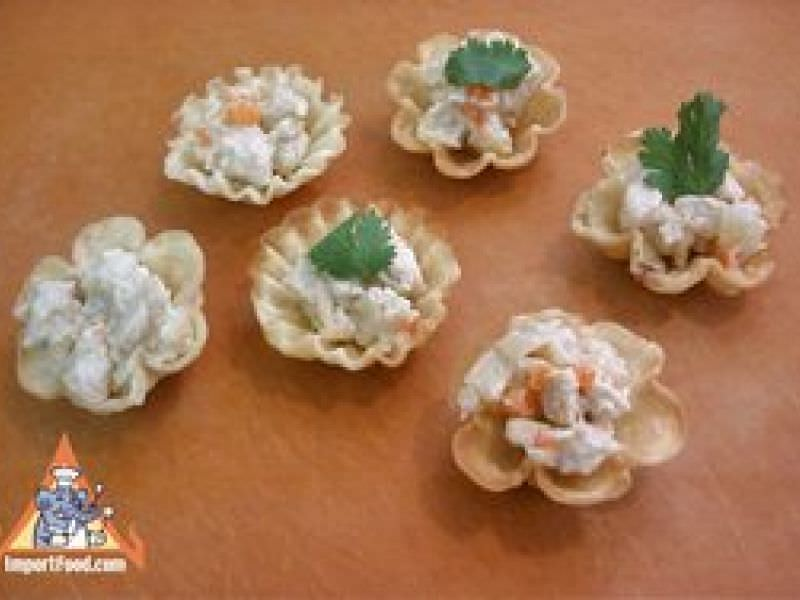 Golden Thai Pastry Cups,