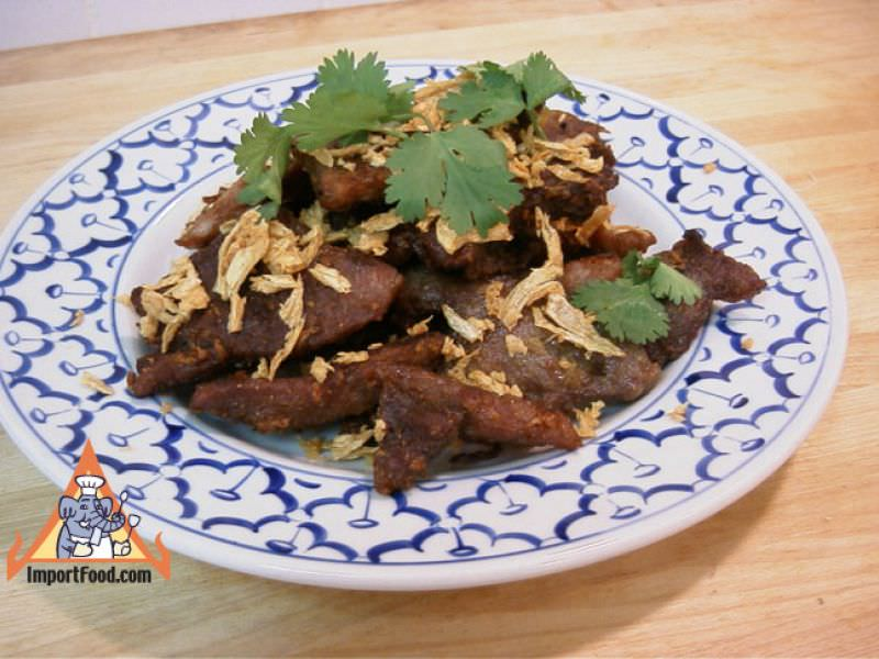 Thai Crispy Fried Pork with Garlic, 'Moo Tod Gratiem'