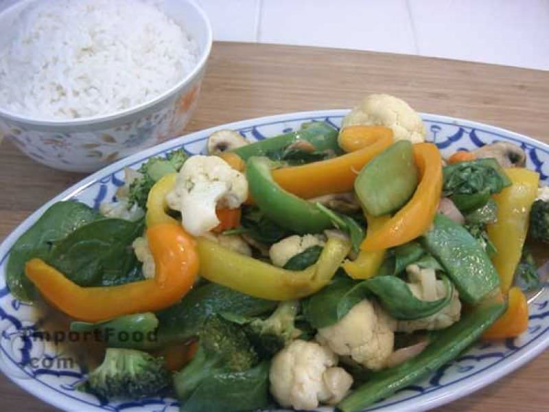 Thai Stir-Fried Vegetables, 'Pad Phak Ruam Mitr'