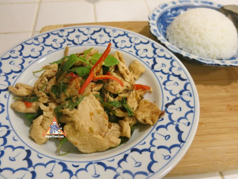 Simple Hot Basil Chicken, 'Gai Pad Krapao'