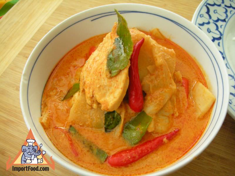 Red Curry Chicken with Bamboo Shoot