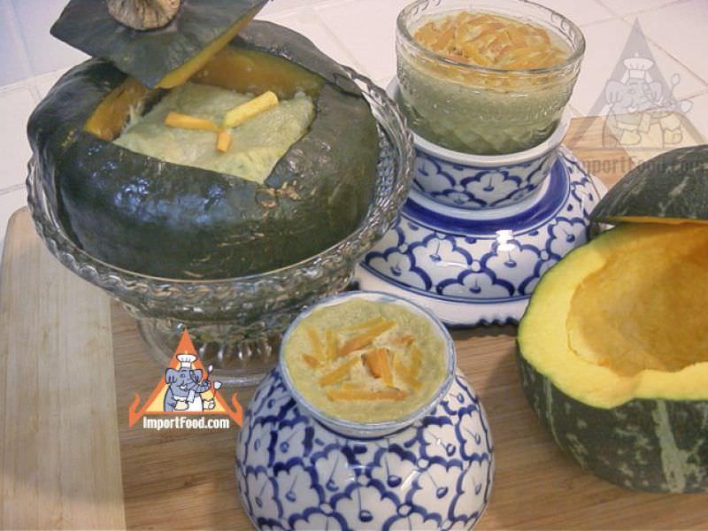 Thai Pumpkin Custard, 'Sankaya Phak Tong'