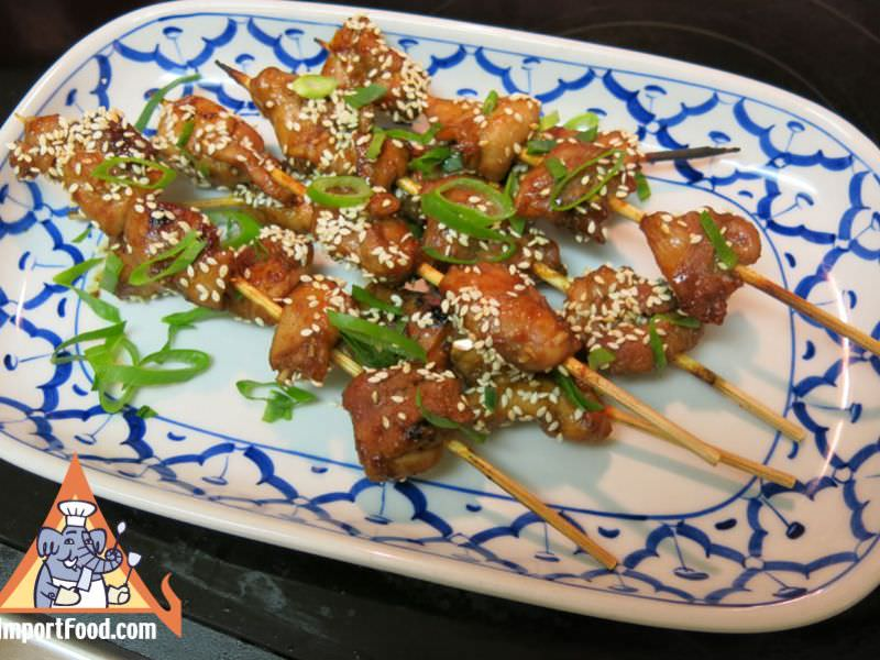 Thai Sesame Chicken Kebabs