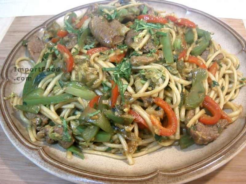 Singapore Lamb Curry Noodles