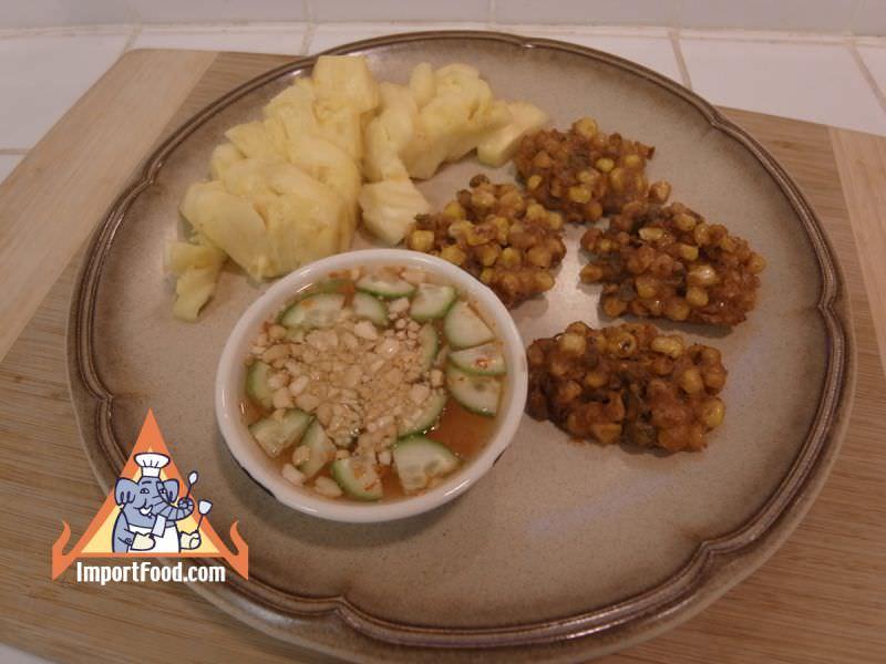 Spicy Thai Corn Cakes, 'Todman Khao Phot'