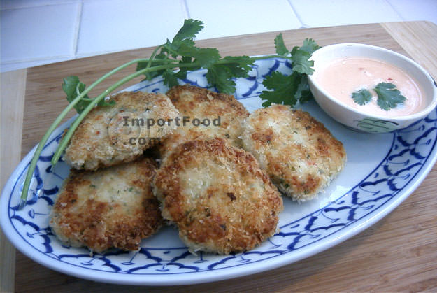 Panko Shrimpcakes with Chile-Lime Sauce