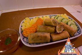 Thai Fried Spring Rolls, 'Poh Pia Tod'
