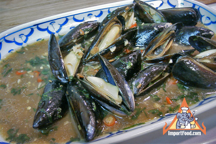 Baked Mussels in Soybean Sauce
