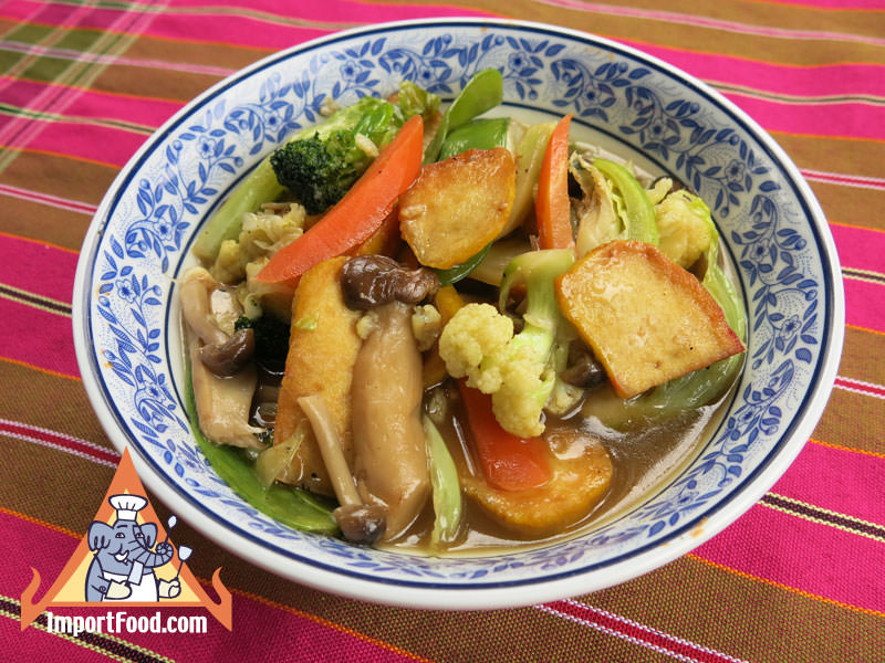 Stir-Fried Vegetables and Tofu, 'Pad Phak Taohu'