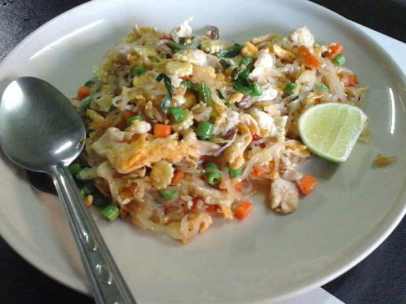 Drunken Noodles and Chicken with Tofu, 'Gai Pad Kee Mao'