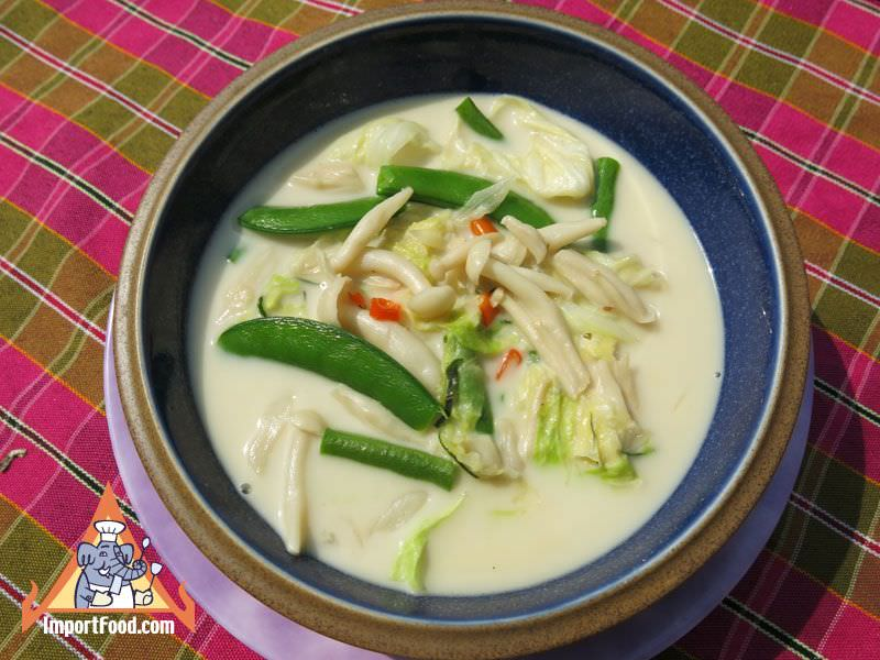 Thai Vegetables in Coconut Milk, 'Phak Tom Kati'