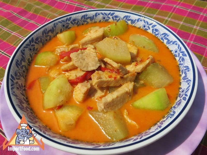 Thai Chicken and Winter Melon Curry, 'Kaeng Kua Phak Gai'