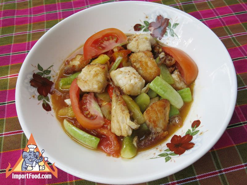 Thai Sweet and Sour Fish, 'Kraphong Khao Priao Wan'