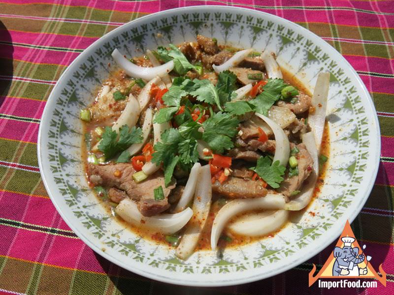 North Eastern Thai Pork Salad, 'Yum Mu Isan'