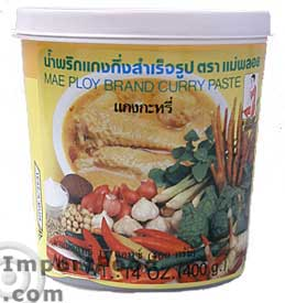 cpmp1402 Thai Yellow Curry Paste - Hand Brand - Mae Ploy - ImportFood