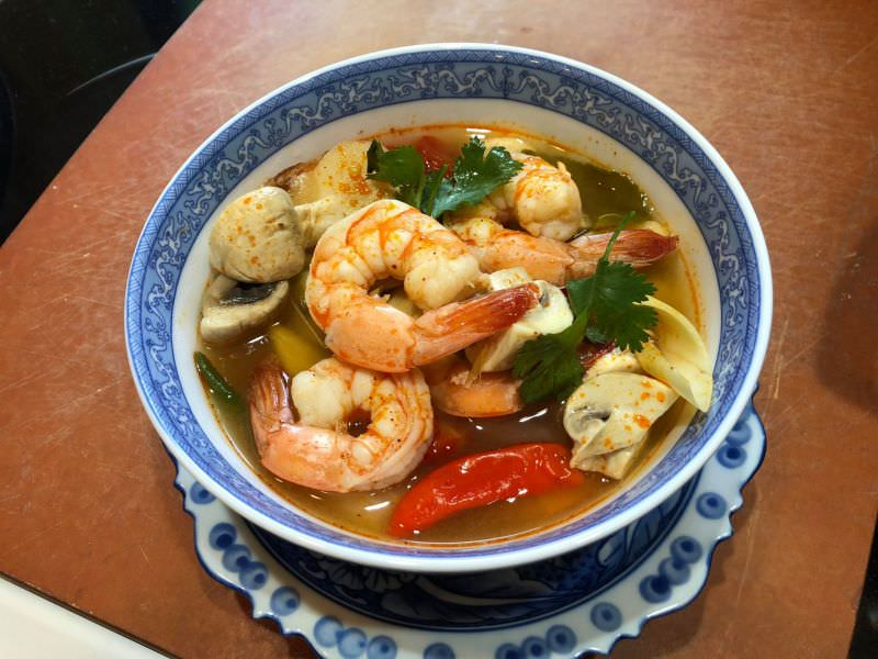 Shrimp Tom Yum in Coconut Water