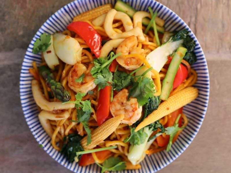 Thai Chilli Garlic Seafood Stir Fry