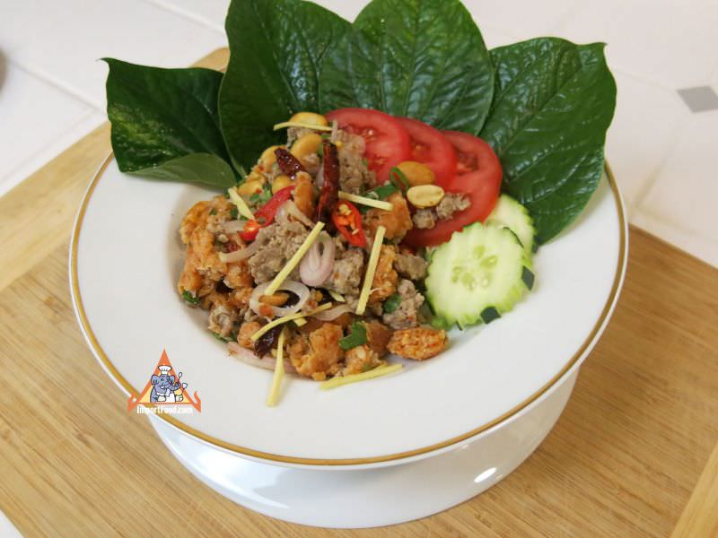Crispy Rice Larb Pork,