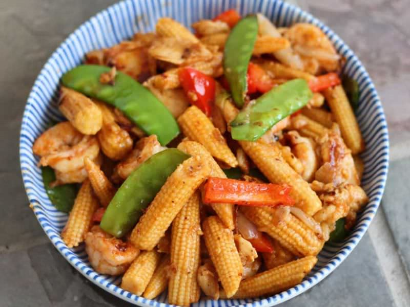 Thai Baby Corn Stir Fry