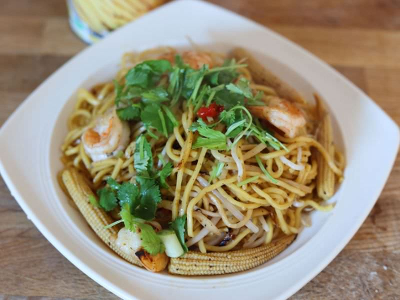 Thai Noodle Bamboo Shoot Stir Fry