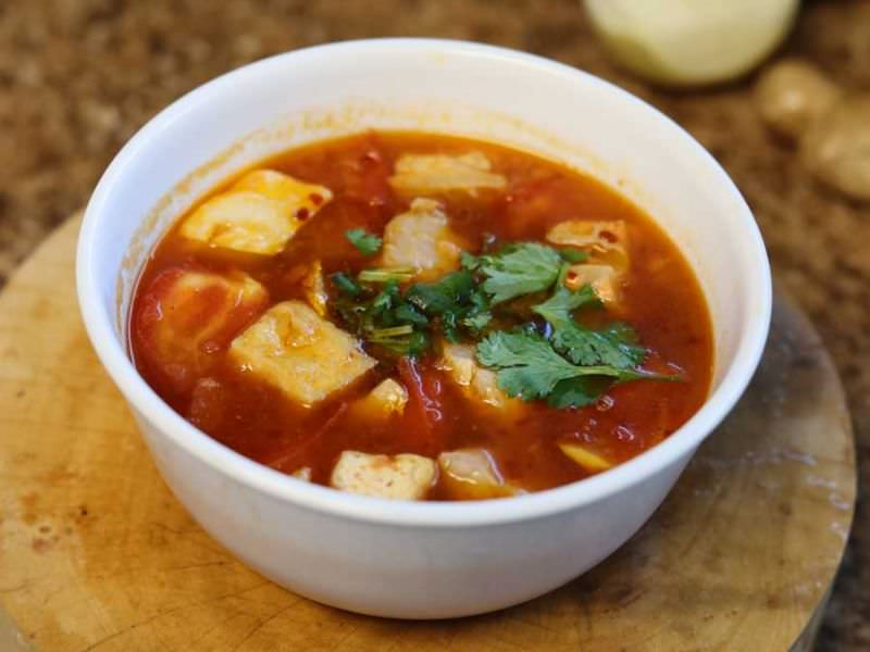 Bouillon Cube Seafood Soup